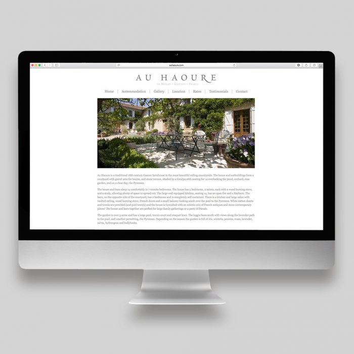 Au Haoure Website Home