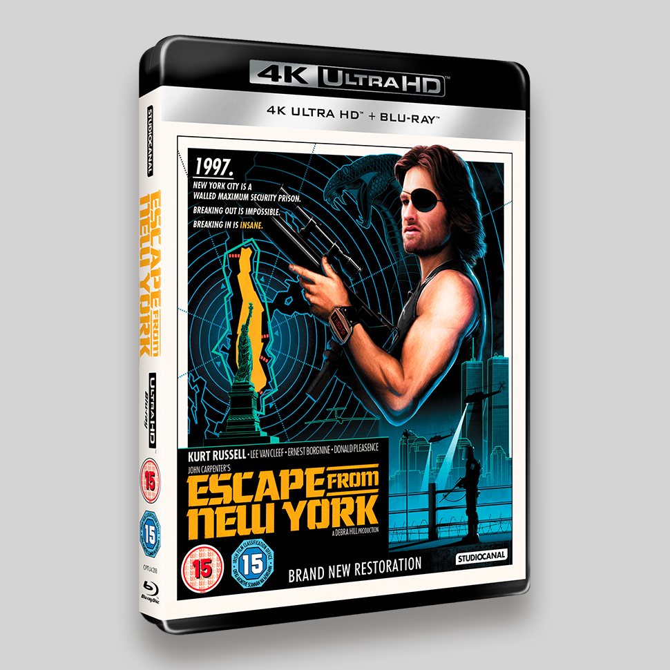 Escape From New York UHD Packaging