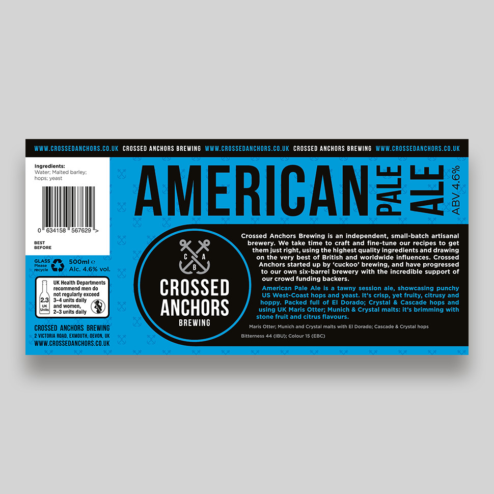 American Pale Ale Bottle Label