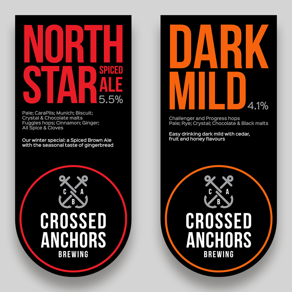 North Star Spiced Ale and Dark Mild Pump Clips