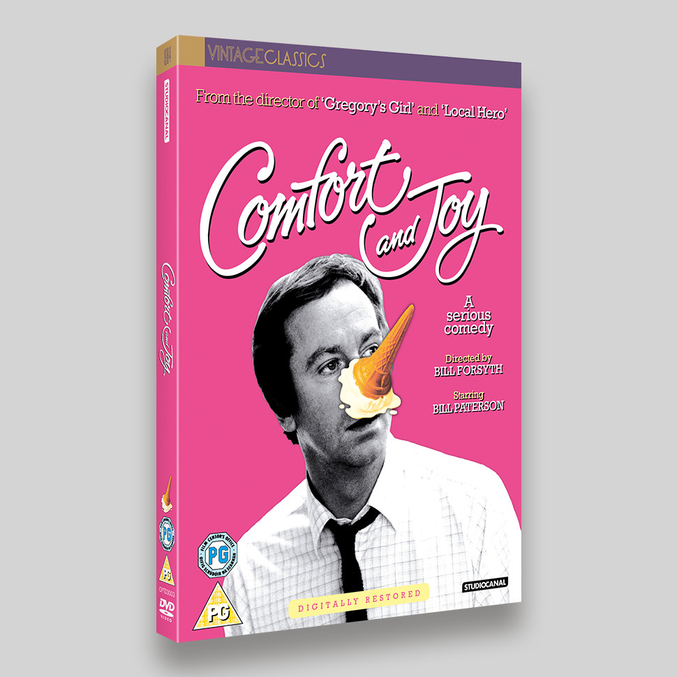 Comfort and Joy DVD O-ring Packaging