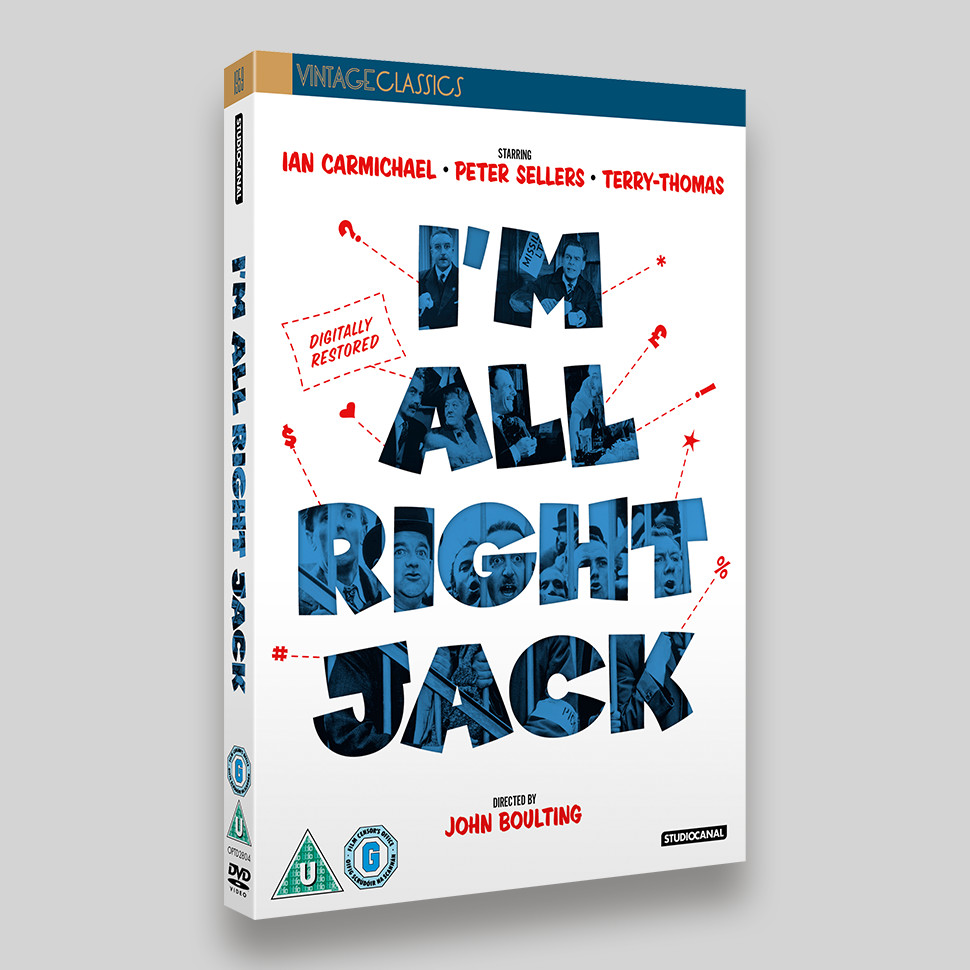 I'm All Right Jack DVD O-ring Packaging