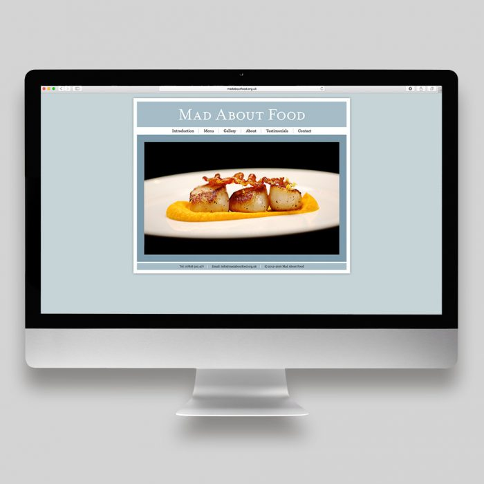 Mad About Food Website